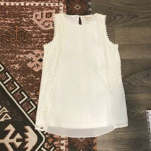 Anthropologie Lula Moon Lace Pleat Top